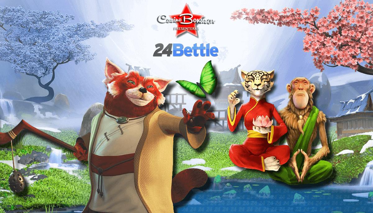 24 Bettle casino banner odds och casinospel med massa bonus
