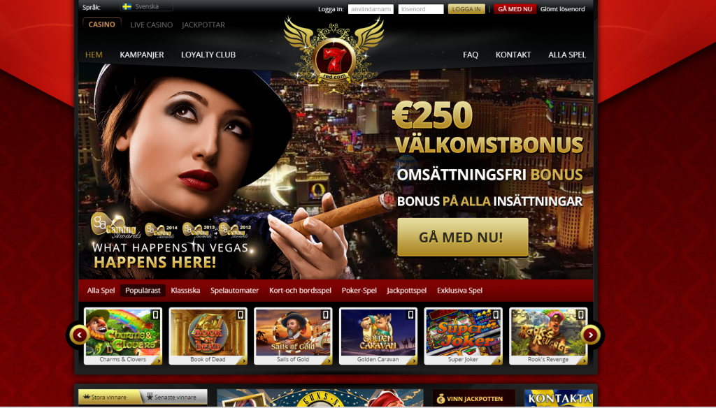 Få casino bonus hos 7Red