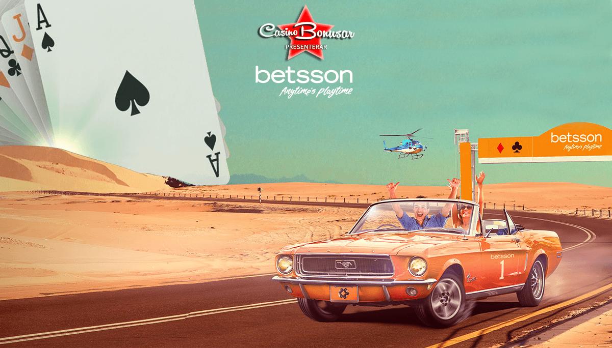 Betsson - 100% upp till 5.000 kr + 600 free spins!
