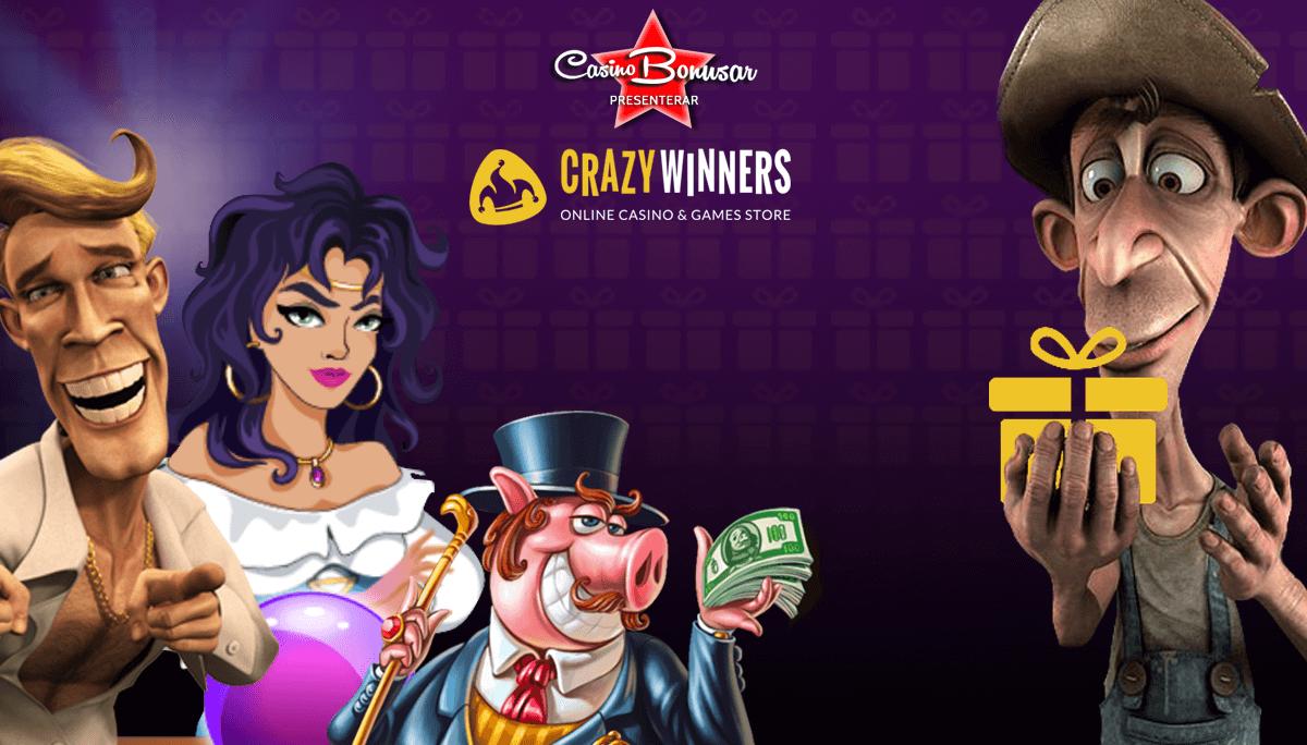 CrazyWinners - 20 000 kr i bonus + 220 free spins