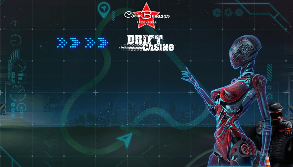 Drift Casino bonusar - 5 000 kr bonus + 100 freespins