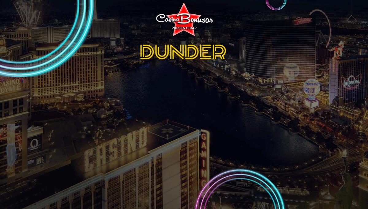 Dunder casino bonusar - 6000 kr i bonus + 200 free spins