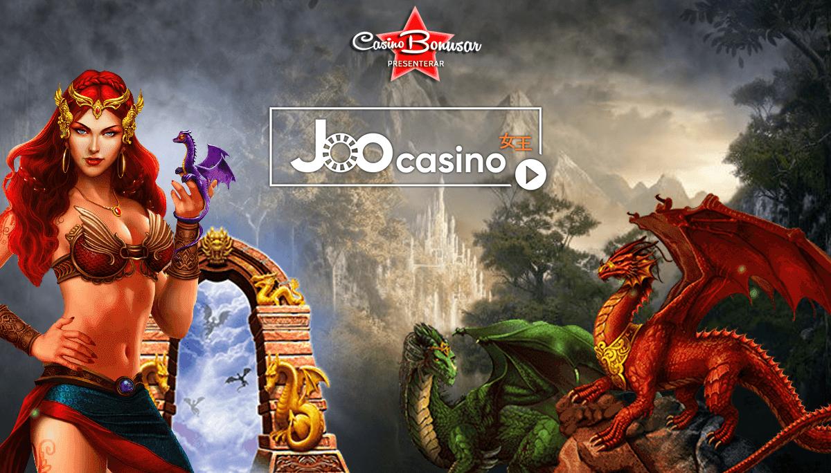 Få casino bonus och free spins på Joo Casino