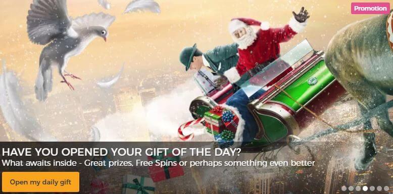 Mr Green julkampanj med dagliga erbjudanden