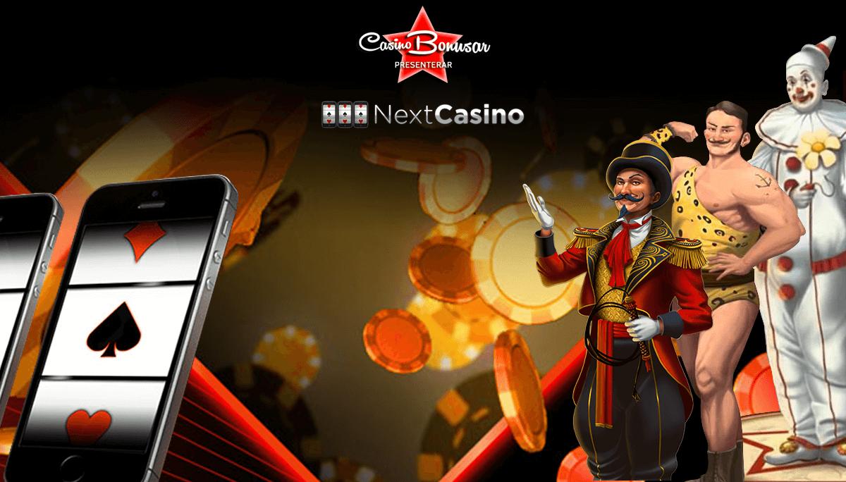 Spela med casinobonus hos NextCasino