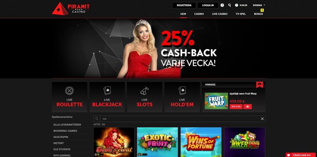 Piramit Casino Startsida