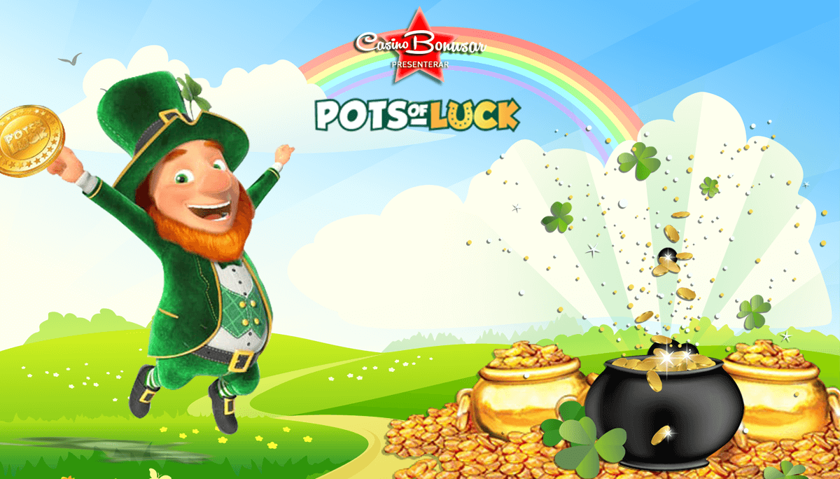 Pots of Luck casino bonusar - 2000 kr i bonus + 100 free spins