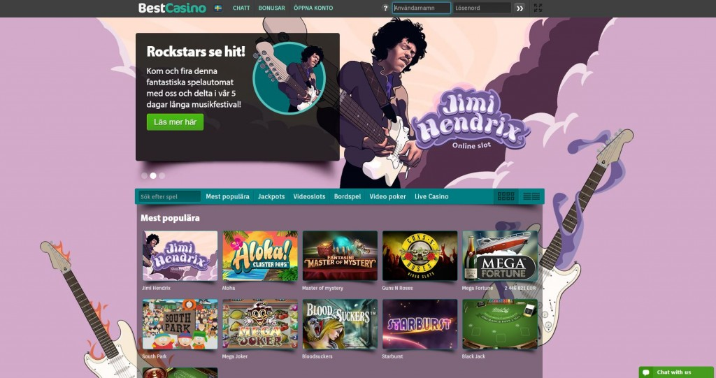 Spela på BestCasino på nätet med bonus