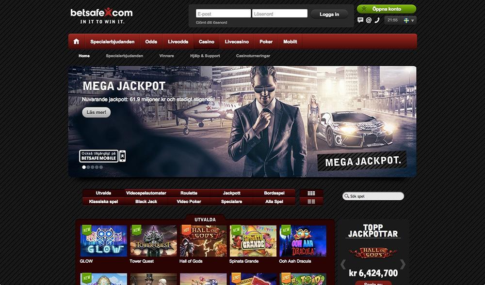 Spela med bonus på odds och casino hos Betsafe