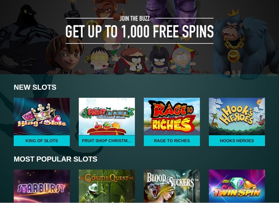 Buzzslots bjuder på casino bonus för nya spelare
