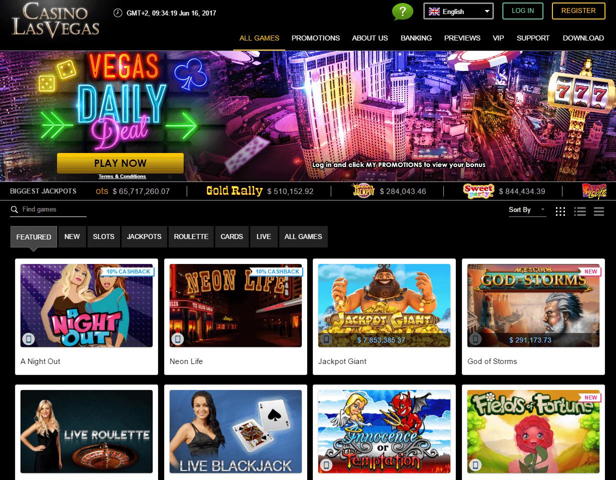 casino las vegas homepage