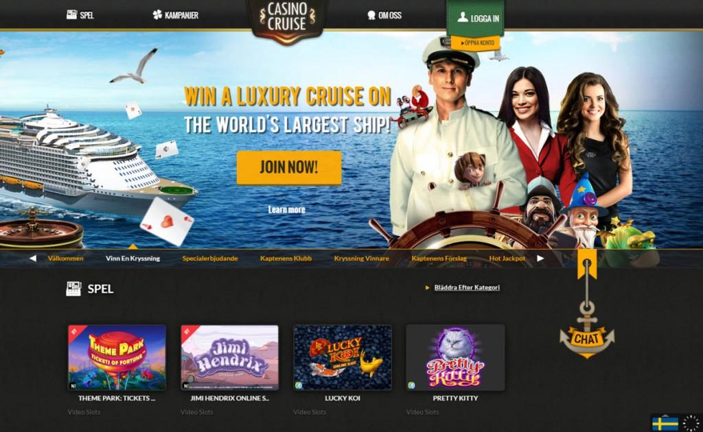Spela med bonus och free spins på CasinoCruise