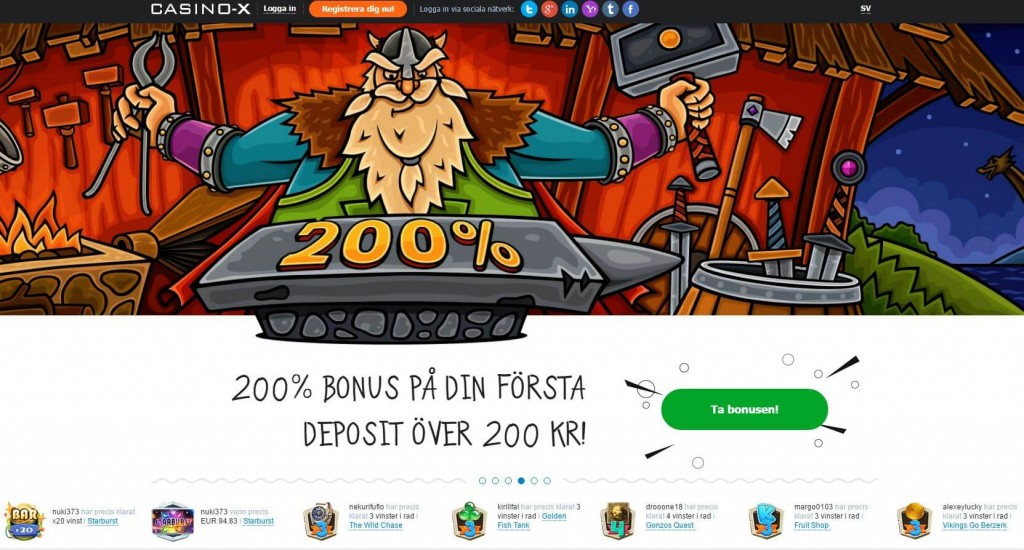 casinox stor bonus