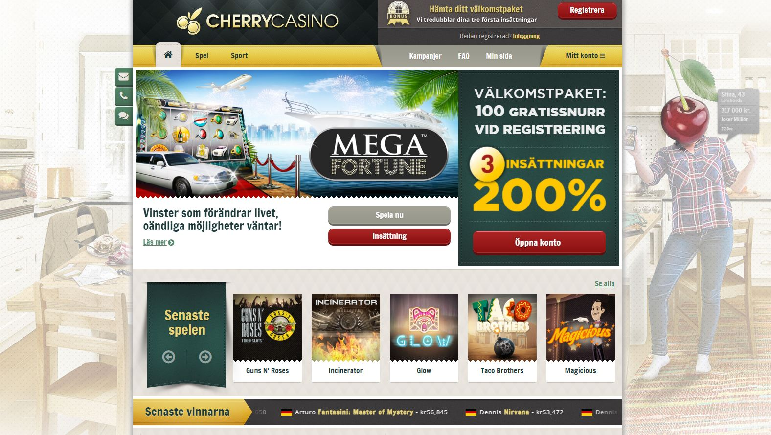 cherry casino sport bonus