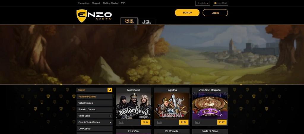 Vinn stort hos Enzo Casino med bonus