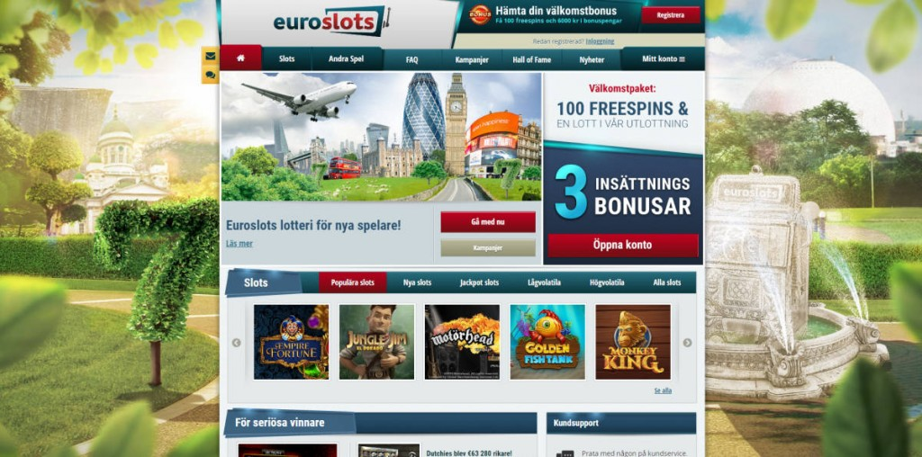 Spela med Euroslots casino online
