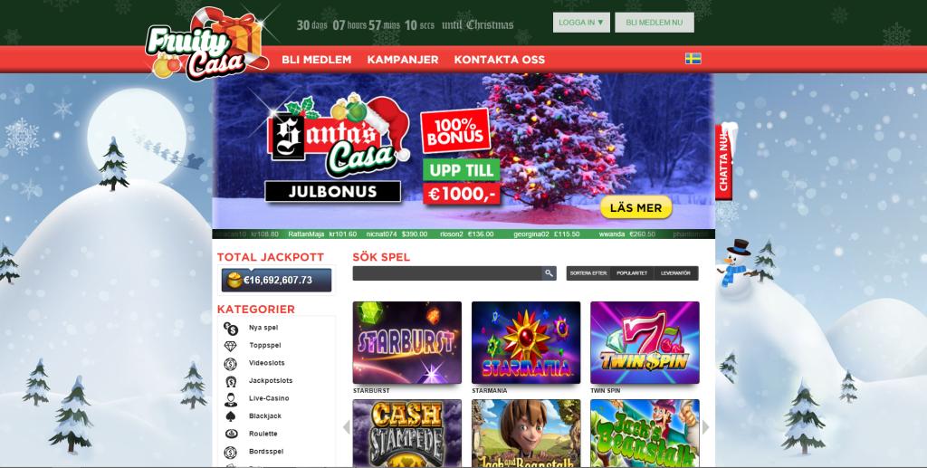 Spela hos Fruitycasino på slots med bonusar på nätcasino