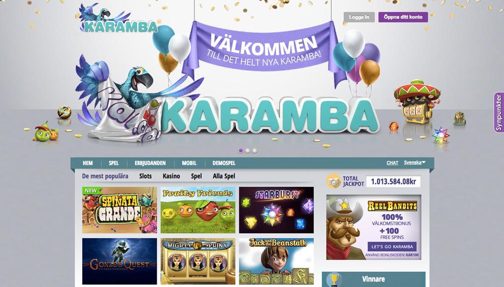 Spela Karamba casino med bonusar