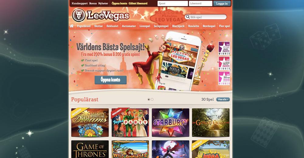 LeoVegas är Sveriges bästa casino online