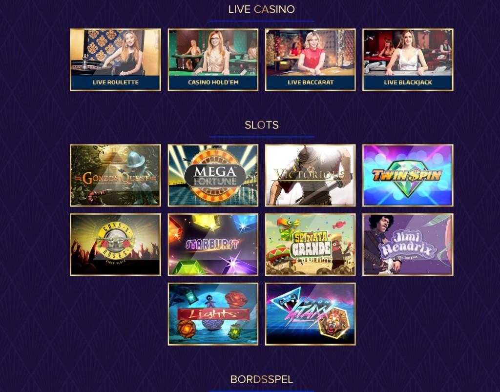 Spela live casino spel hos Live Lounge