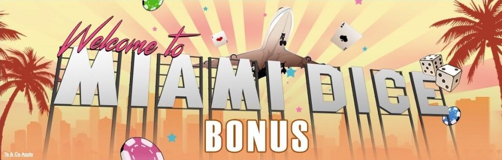 Miami Dice - 35.000 kr + 200 freespins att spela med!