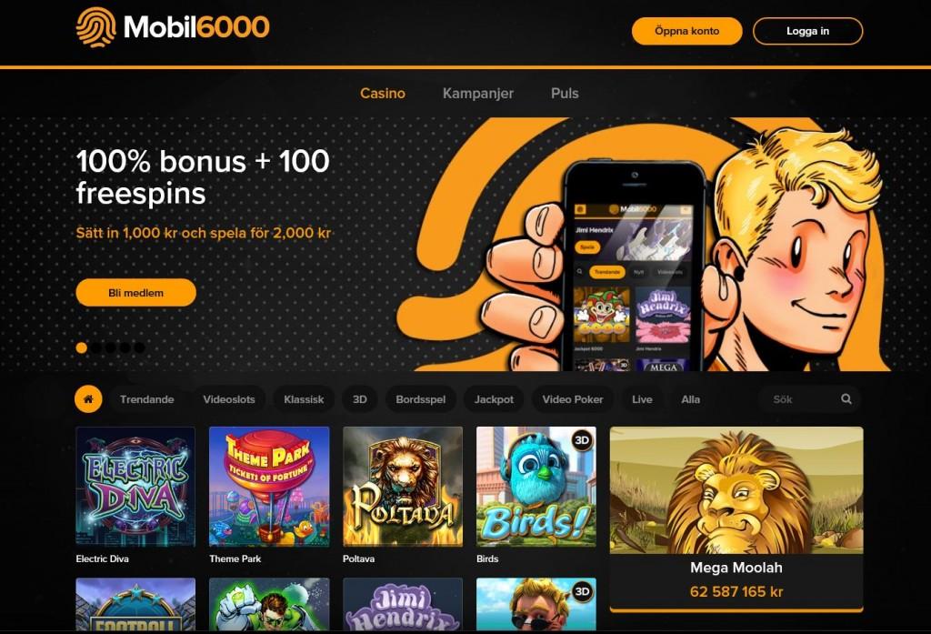 Spela i mobilcasino hos Monil6000