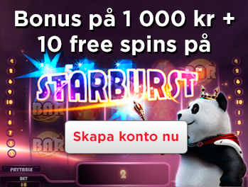 starburst-valkomstbonus