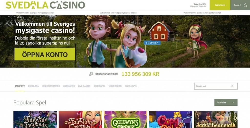 Svedala Casino - Spela med 3 000 kr + 30 free spins