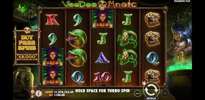 voodoo magic spelfunktioner