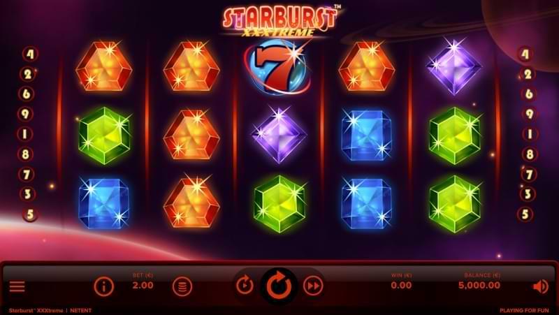starburst xxxtreme spelfunktioner